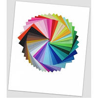 Набор фетра мини-формата цветного для рукоделия, 15 х 15 см, 40 цветов.