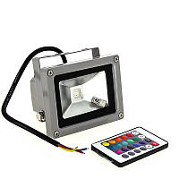 Прожектор светодиодный 10w RGB+Пульт