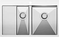 Мойка кухонная из нержавеющей стали Aquasanita Luna LUN151N-R