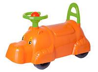 Толокар, детская машинка для прогулок Технок 3664 бегемотик оранжевый