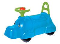 Толокар, детская машинка для прогулок Технок 3664 бегемотик синий