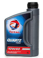 Полусинтетическое моторное масло Total (тотал) QUARTZ 7000 Diesel 10w40 1л.