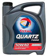 Полусинтетическое моторное масло Total (тотал) QUARTZ 7000 Diesel 10w40 5л.