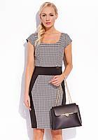 Женское летнее офисное платье с коротким рукавом черного цвета. Модель True Zaps, весна-лето 2016.