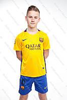 Футбольная форма Барселоны 2015-2016 Месси (Barcelona Messi) желто-оранжевая. Бесплатная доставка!!!