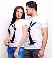 """Парные футболки для влюбленных """"Зайцы"""""""