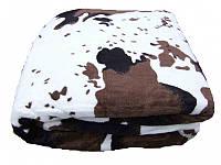 Микрофибровая простынь, покрывало Elway Шкура корова