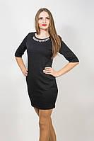 Платье черное мини с украшением 909 (S3)