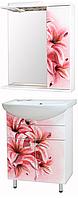 """Комплект мебели для ванной комнаты """"прототип-1"""" (правый, Розовая лилия)"""