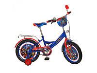 Детский двухколесный велосипед мульт 16 дюймов MH162, сине-красный