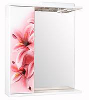 Зеркало для ванной 60-01 левое  Розовая лииля