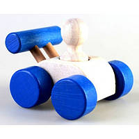 Руди Деревянная машинка-Малыш Синий