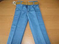 Детские коттоновые джинсы + ремень для  мальчика 3-4 Турция