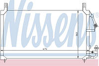 Радиатор кондиционера Daewoo Nexia | Нексия 1.5, 8 кл/16 кл - Nissens 94424