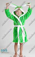 """Веселый  махровый  халат для ребенка """"Зайченок"""" с ушками - разные цвета"""