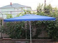Зонт торговый  2х3 м с клапаном с серебряным напылением прямоугольный синий,красный,зеленый