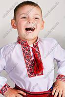 Детская вышиванка для мальчика крестиком Федор красная. От 3 до 12 лет