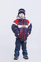 Куртка демисезонная для мальчиков от 1 до 6 лет, с шапочкой КЕН