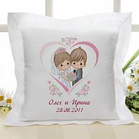 Декоративная подушка для молодоженов