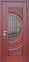 """Входная дверь с ковкой и стеклом """"Портала"""" (серия PatinaElit) ― модель M-5 Vinorit"""