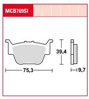 Honda TRX тормозные колодки для квадроциклов TRW / Lucas MCB769SI
