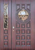 """Входные бронированные двери элит класса """"Портала"""" (3-D, патина) ― модель BIG-15"""