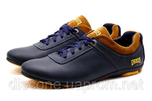 Спортивные мужские туфли GS-comfort, натуральная кожа, синие, р. 40