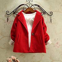 Пальто на девочек красное весна-осень