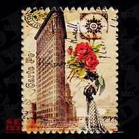 """Магнит """"Flatiron Building""""(Флэтайрон-билдинг), из серии в память о поездке в США, керамика."""