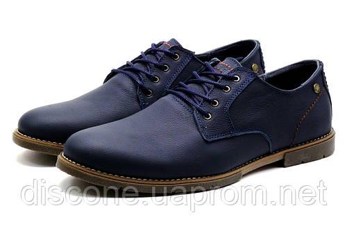 Туфли мужские кожаные спортивные H.Denim синие, р. 40