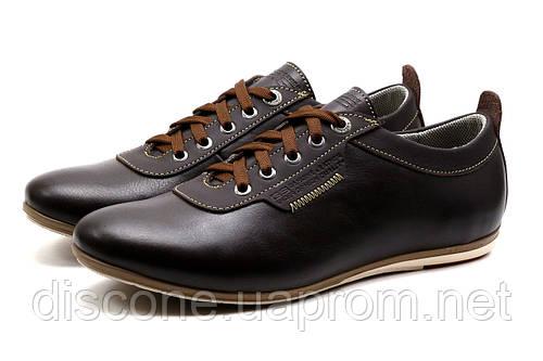 Спортивные туфли GS-comfort, мужские,  натуральная кожа, коричневые, р. 45