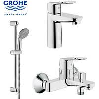 Набор смесителей GROHE BauLoop 23337000+32815000+2759800,кран для ванно 123214