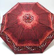 Женский зонтик полуавтомат Doppler, в бордовых тонах
