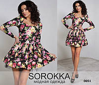 Женское платье с цветочным принтом