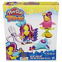 Плей-Дох набор пластилина Город парикмахер и птичка Play-Doh B5973