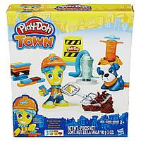 Плей-Дох набор пластилина Город дорожный рабочий и щенок Play-Doh B5972