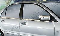 Накладки на зеркала на Мицубиси Ланцер-9 с 03-07 (нерж.) OMSALINE