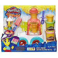 Плей-Дох игровой набор пластилина Город грузовик мороженого Play-Doh B3417