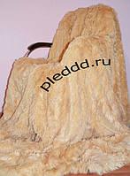 Ворсистый бамбуковый плед бежевого окраса