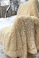 Покрывало меховое из бамбука - беж