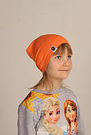 Демисезонная однотонная шапка на детей Bape Kids, оранжевый