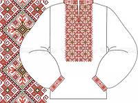 Заготовка мужской сорочки для вышивки бисером «Орнамент 595Ч»