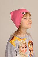 Демисезонная однотонная шапка на детей Bape Kids розовая