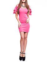 """Короткое нарядное платье """"Алисия малина"""", до 48 размера"""