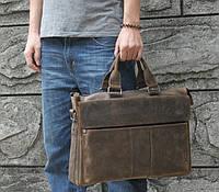 """Модный кожаный портфель для ноутбука 17"""" Tiding Bag t1096"""