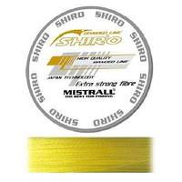 Плетеный шнур / Плетений шнур / Плетенка Mistrall Shiro 0.08 мм 135 м Желтый / Жовтий