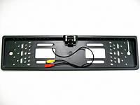 Камера заднего вида автомобиля в рамке номерного знака с ИК  подсветеой, с разметкой зоны приближения парковки