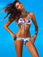 Раздельный купальник. Яркий, модный купальник. Красивый, стильный открытый купальник. Код: КЕ488