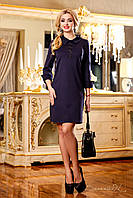 Классическое прямое платье с манжетами на рукавах и воротнике, 44-50 размеры