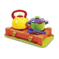 Газовая плита и набор посуды 0408 Юника